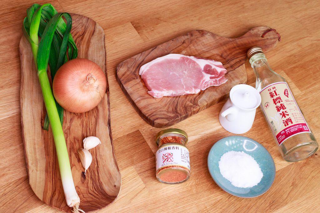 香炒洋蔥豬里肌 Stir Fried Pork with Onion and Leeks