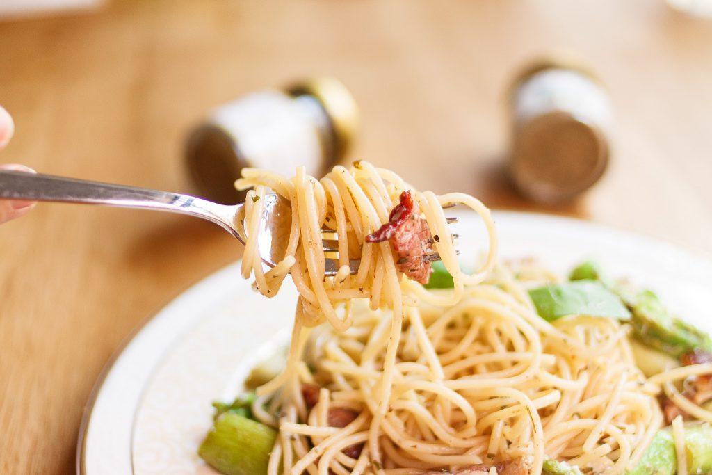 雪碧培根蘆筍義大利麵 Spaghetti with Asparagus, Bacon