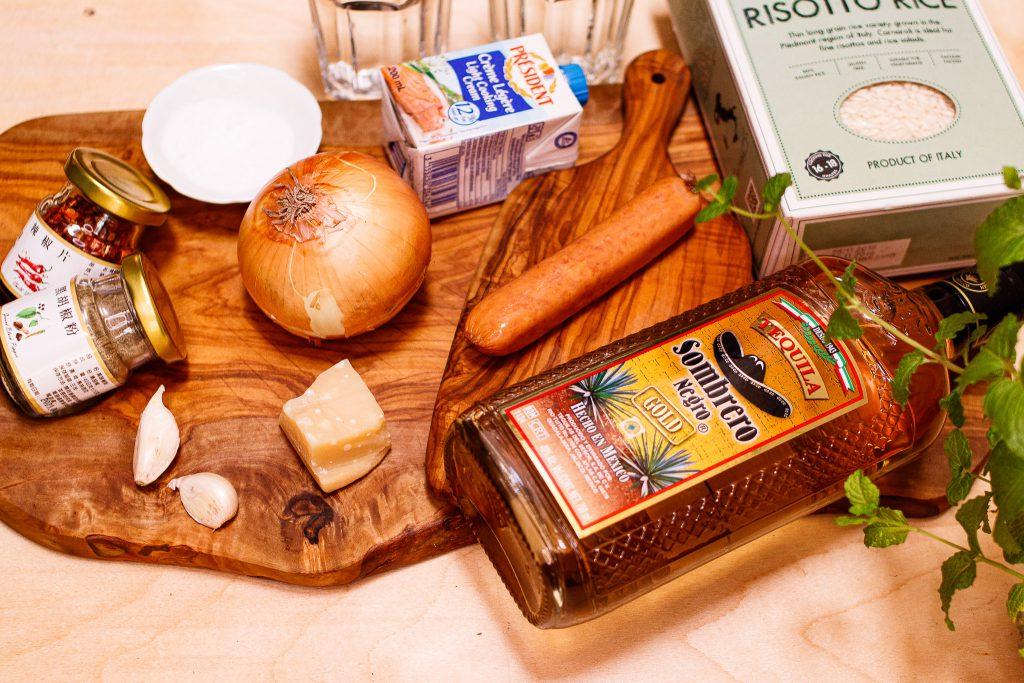 辣味龍舌蘭德式煙燻香腸燉飯 Spicy Tequila Saussage Risotto