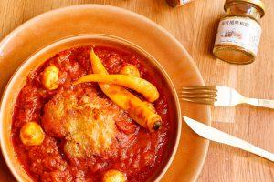 香嫩雞腿排佐蕃茄咖哩醬汁 Chicken with Tomato Curry