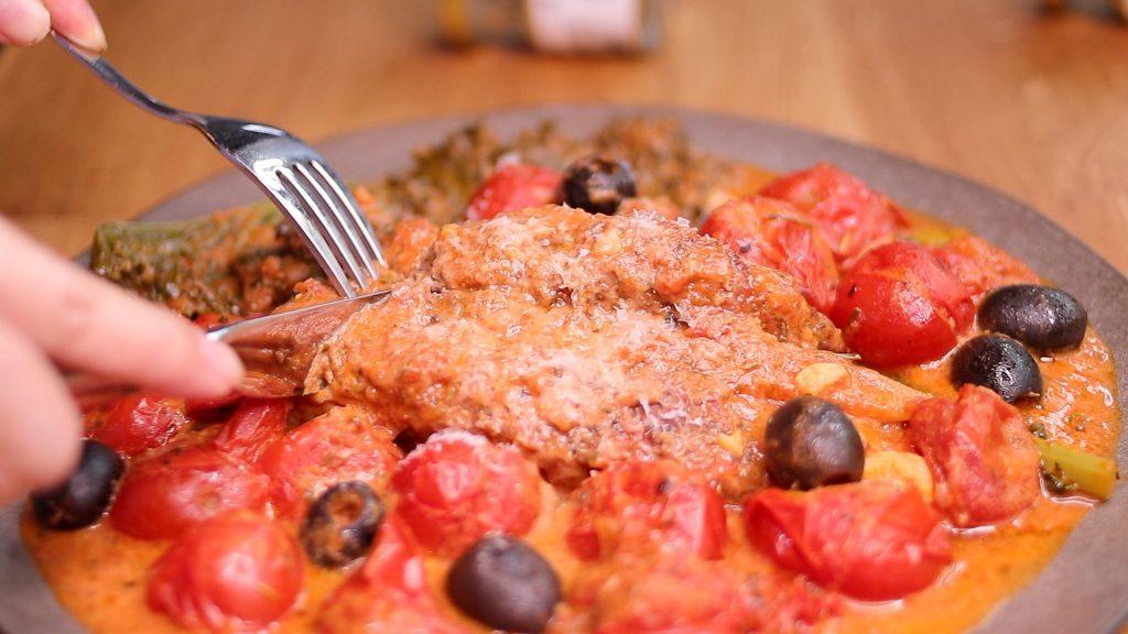 奶香番茄燉豬小里肌 Creamy Tomato Pork Tender Loin Stew