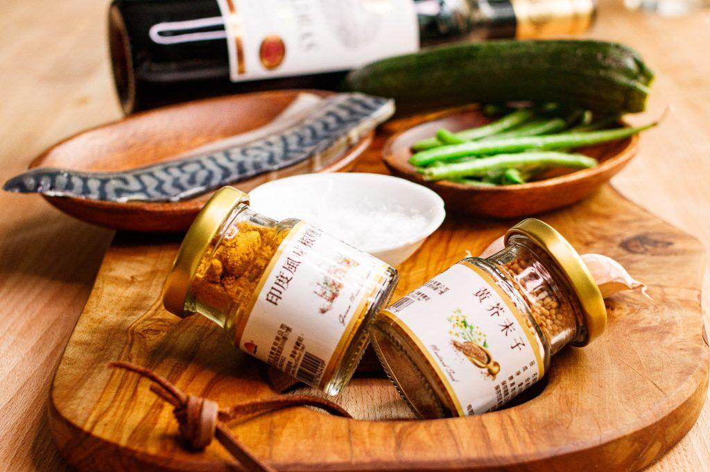 咖哩風味櫛瓜醎鯖魚燉飯 Zucchini and Salty Fish Risotto with Curry Seasoning