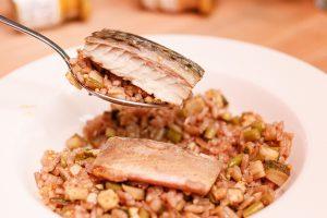 咖哩風味櫛瓜鹹鯖魚燉飯 Zucchini and Salty Fish Risotto with Curry Seasoning