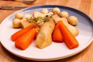 亞洲風味杏鮑菇 Braised King Oyster Mushroom with Carrot And Quail Eggs